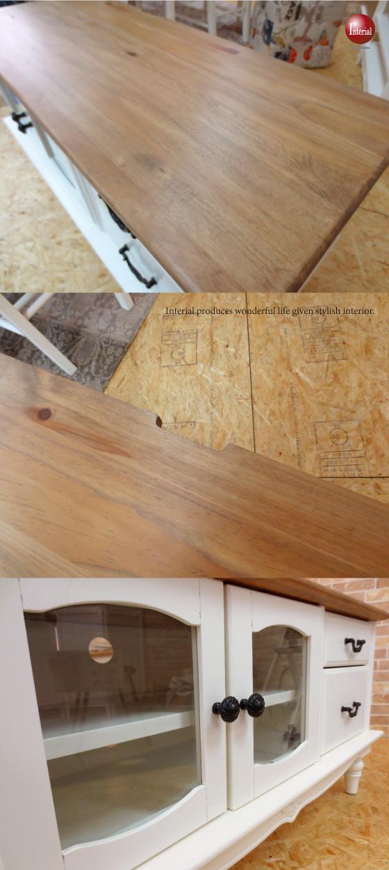 天然木パイン製・ガーリーテイスト幅90cmテレビボード(完成品)