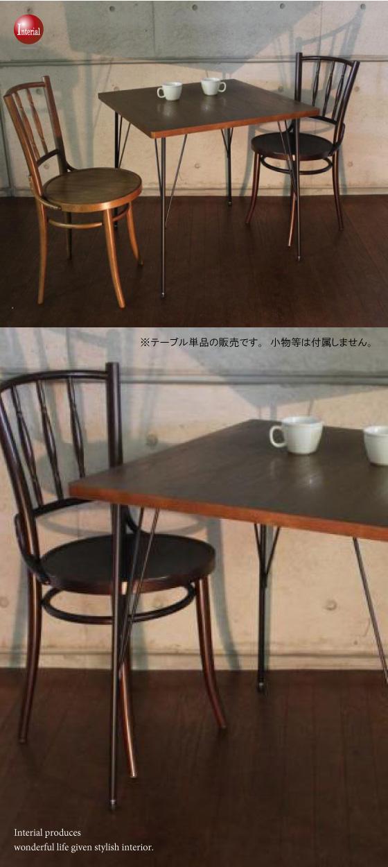天然木オーク突板使用・幅75cmダイニングテーブル(正方形)