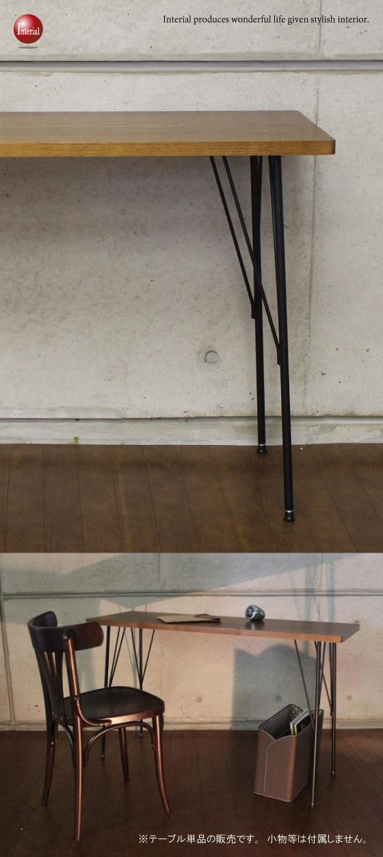 天然木オーク突板使用・幅120cmデスク