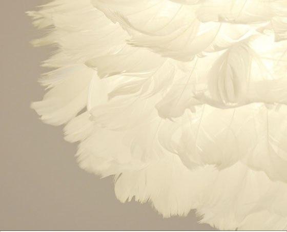 北欧デザイン・羽毛ペンダントライト(1灯)Mサイズ/直径35cm(LED電球&ECO球対応)