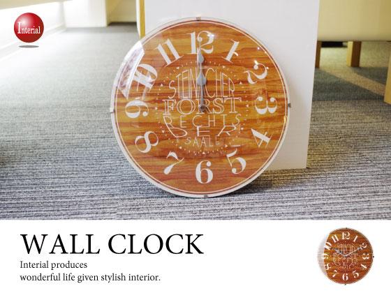 ナンバー&英字デザイン・壁掛け電波時計