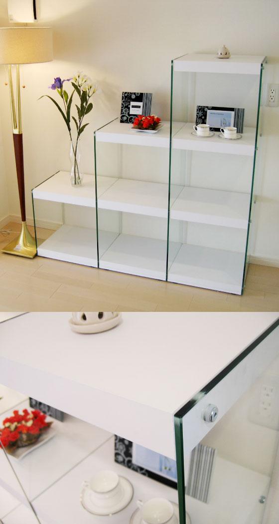 階段デザイン・サイドガラスラック(3D)