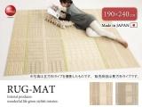 吸湿発熱加工・デザイン多機能ラグ(190×240cm)日本製