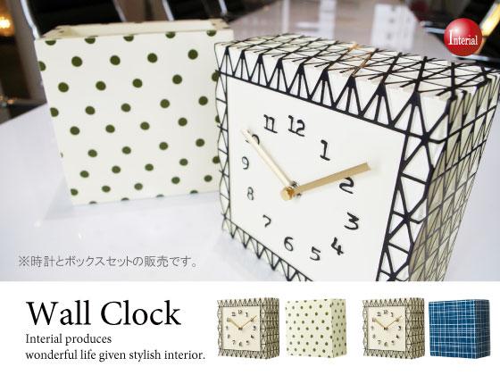 ディスプレイボックス付・スクエア壁掛け&置き時計