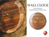ウッドデザイン&曲げガラス・インテリア壁掛け電波時計