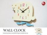 シロクマデザイン・振り子インテリア壁掛け時計