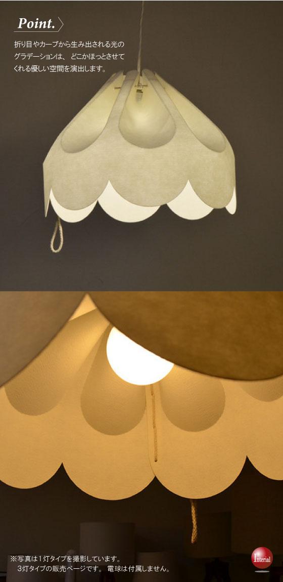 東欧デザイン・ファブリック風3灯ペンダントライト(LED電球&ECO球対応)