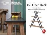 天然木ミンディ製・4段オープンラック(幅150cm)