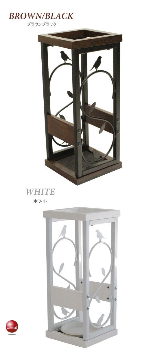 鳥&リーフデザイン・アンブレラスタンド(傘立て)