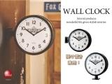 両面時計!レトロアメリカンテイスト・掛け&置き時計