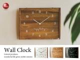 シンプルスクエアフレーム・壁掛け電波時計